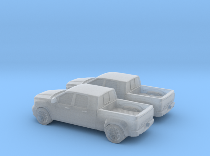 1/160 2X 2011 Dodge Ram Mega Cab 3d printed