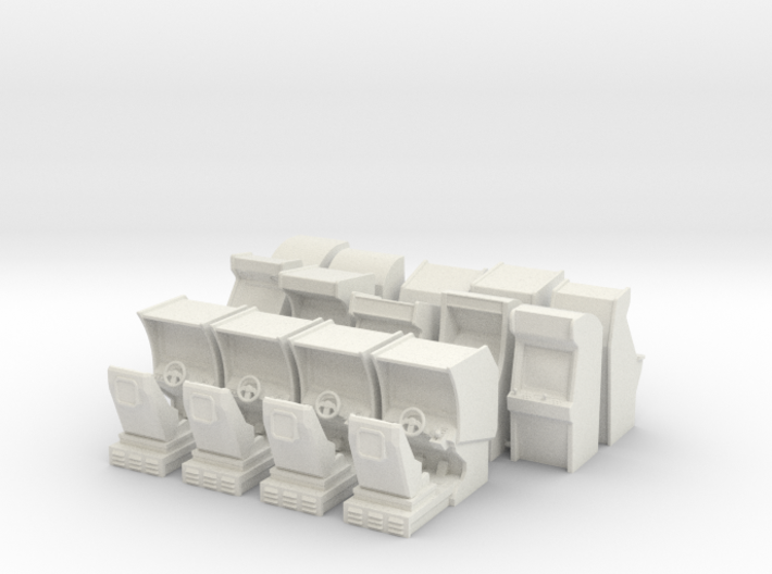 Large Arcade Pack With Sprue 3d printed