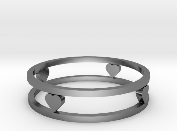 Love ring (19 mm diameter) 3d printed