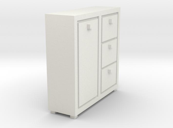 A 021 cabinet Schrank 1:87 3d printed
