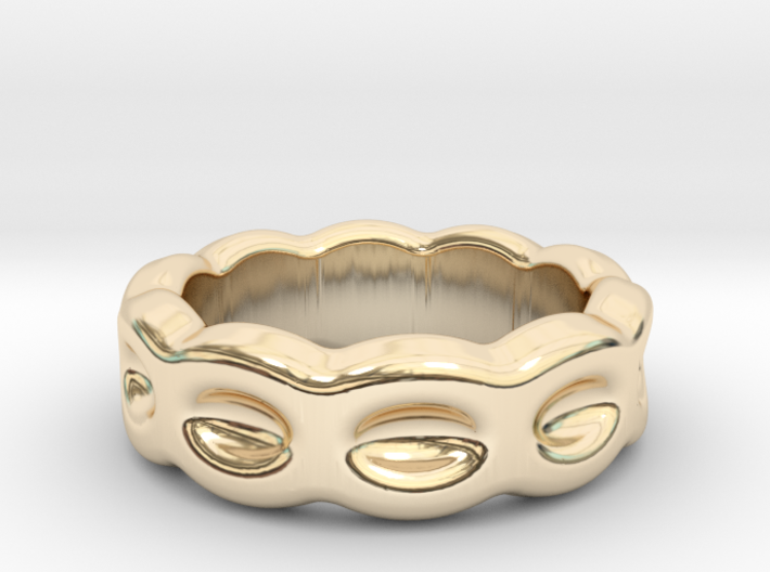 Funny Ring 19 - Italian Size 19 3d printed