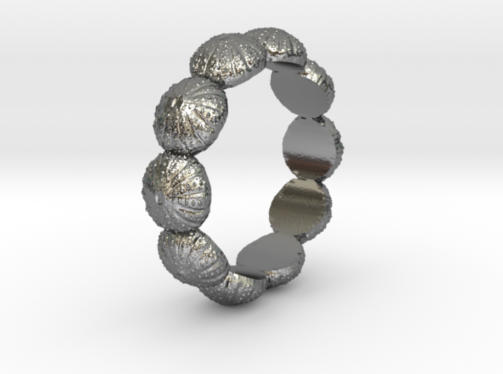 Urchin Ring 1 - US-Size 10 (19.84 mm) 3d printed