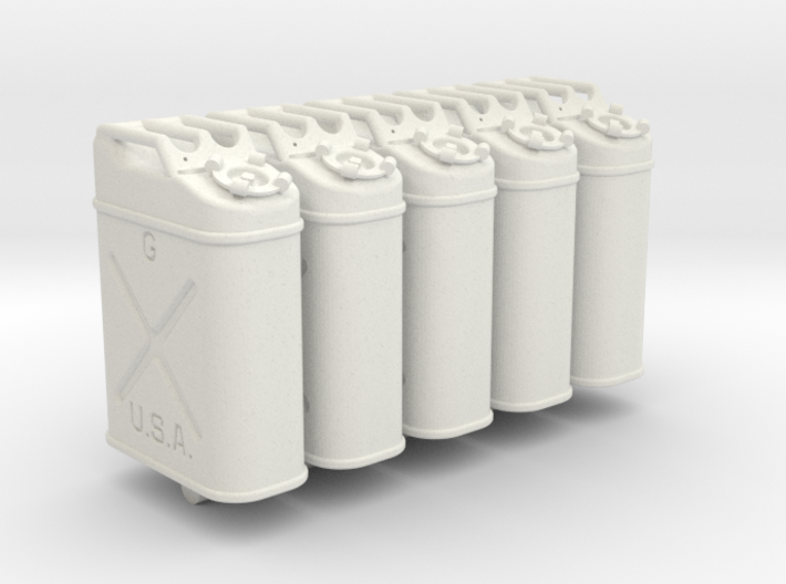 1-24 US Jerrycan 5 UNITS 3d printed