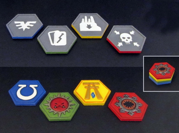 Order Tokens (32 pcs) 3d printed Hand-painted White Strong Flexible