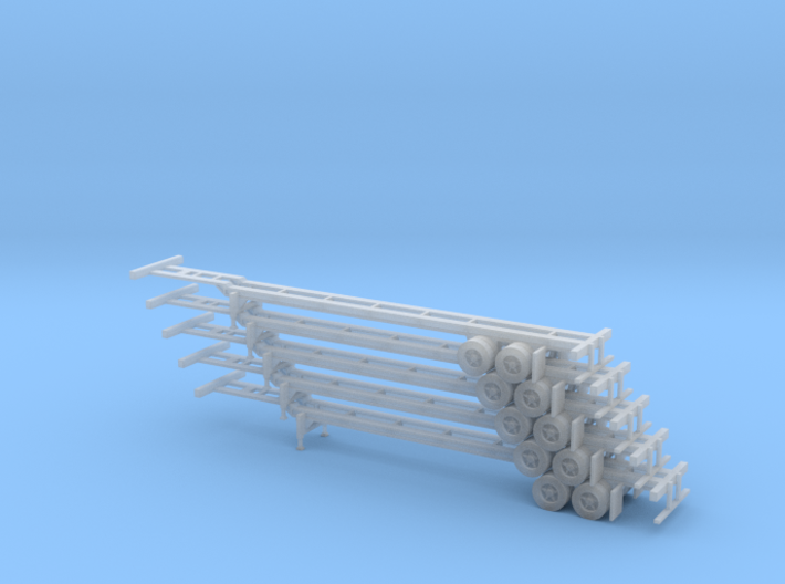 N 40' Container Chassis Stack #1 3d printed