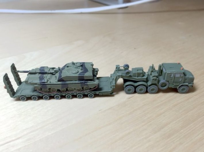 M1070F UK HETS & King GTS 100/7 1/200 Scale 3d printed Model painted by Richard - without Tank!