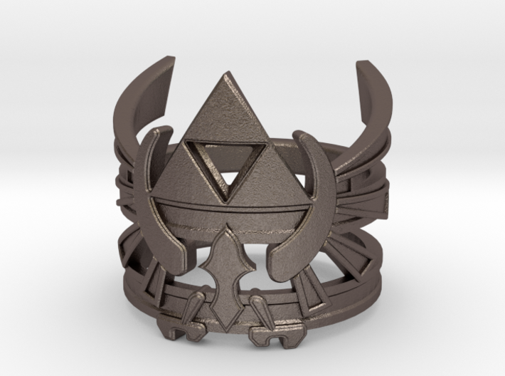 LoZ - Triforce ring - Zelda - medium sizes (15 to 3d printed