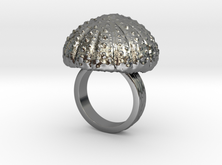 Urchin Statement Ring - US-Size 6 (16.51 mm) 3d printed