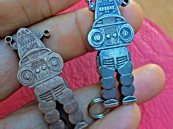 Robby the Robot Keychain 3d printed
