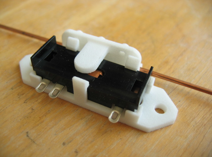 Railroad switch / point actuator for PECO PL-13 3d printed The PL-13 is a secure fit in the Base part