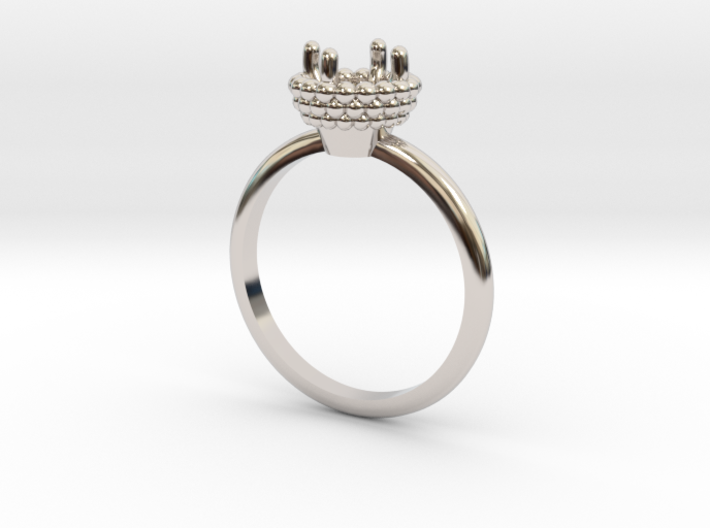 Bead Ball Mount Engagement Ring 3d printed