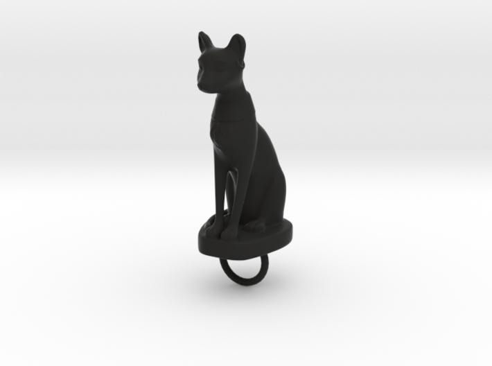 Bast Keychain 3d printed