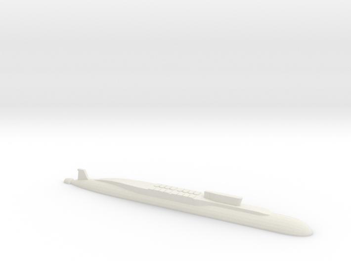 Borei-Class SSBN, 1/1800 3d printed