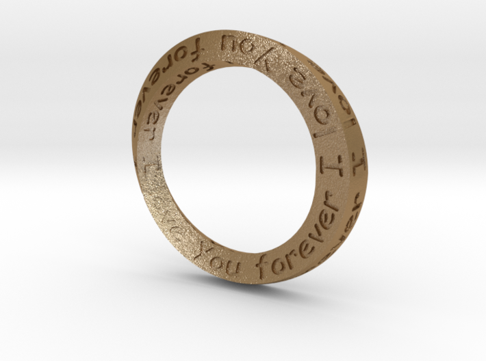 "Mobius ring ""I Love You Forever"" Size 12 3d printed"