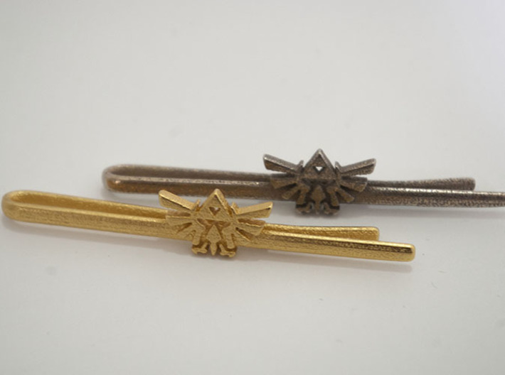 Legend of Zelda: Triforce Tie Clip 3d printed