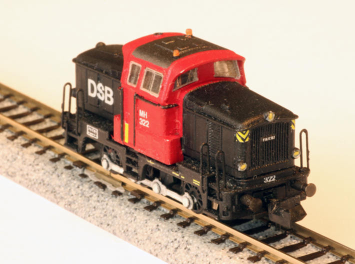 DSB MH in 1:160 N scale 3d printed