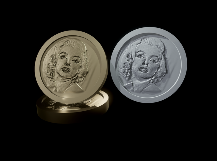 Marilyn Monroe Coin 3d printed