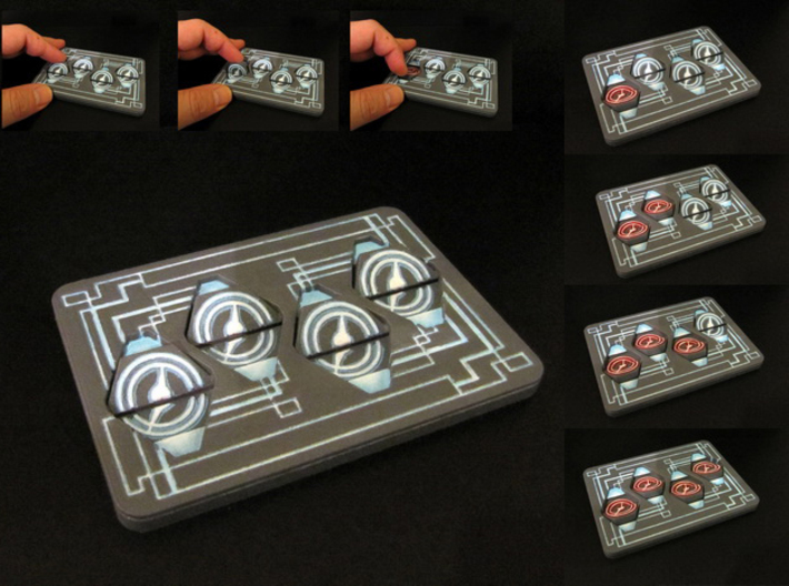 Click Tracker - Netrunner 3d printed Hand-painted White Strong Flexible