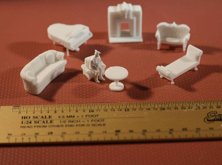 Living Room Stuff Collection 1 HO Scale 3d printed