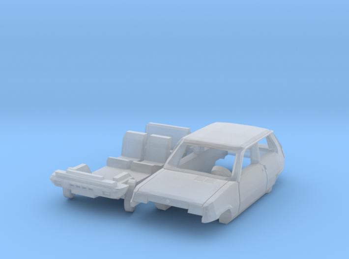 Renault 5 TL - Parked (TT 1:120) 3d printed