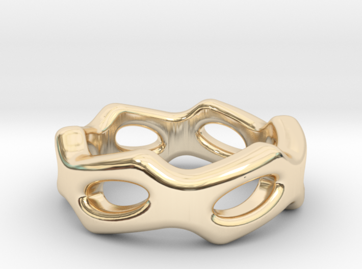 Fantasy Ring 19 - Italian Size 19 3d printed
