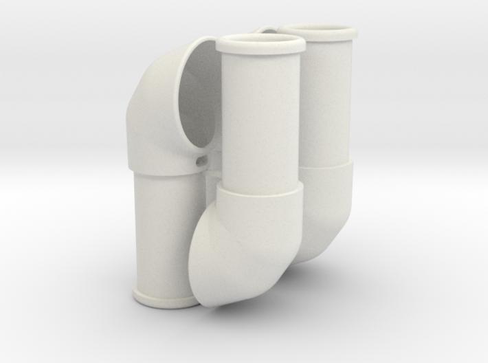 Improved air scoop, set of 4 3d printed