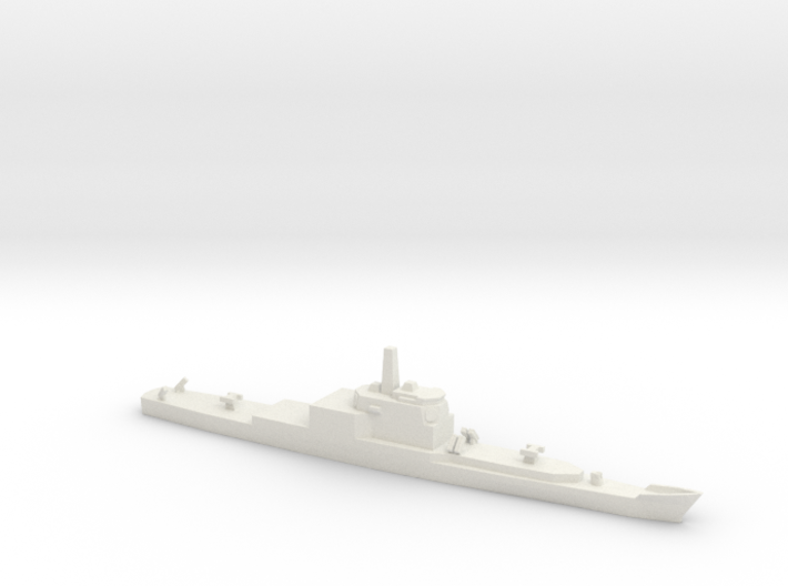 Long Beach Refitted with Aegis, 1/1800 3d printed
