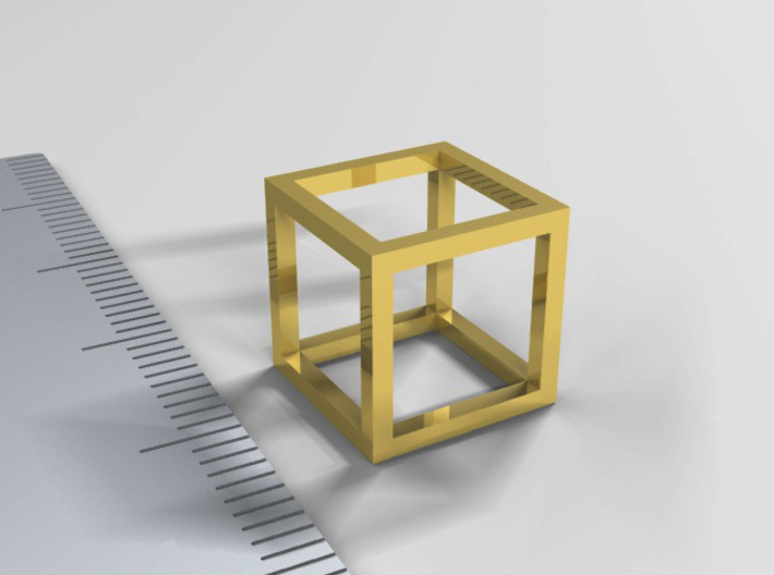 One Cubic Centimeter 3d printed