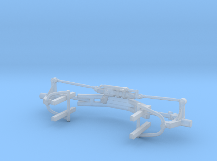 1/24th DLM Front Suspension Assembly 3d printed