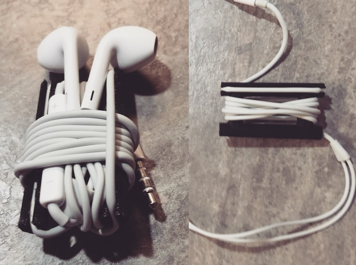 Best Buds - Ear Buds/Headphone Cord Management 3d printed Store when not in use