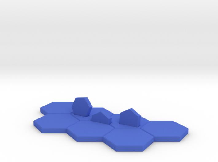 Hex-tile Card holder 3d printed