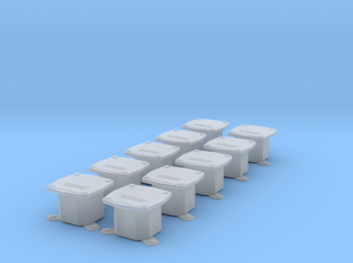 Terminal box S400.2 10pcs, 1/18 scale 3d printed