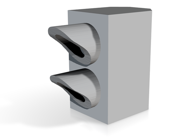 N Scale Stop-Go Signal 8pc 3d printed Render of one single signal head