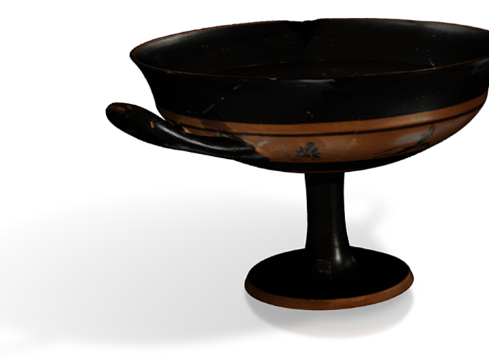 Kylix Remeshed 3d printed