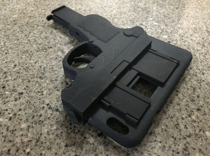 iPhone 6 Gun Case 3d printed Credit card slot (stores 1 card)