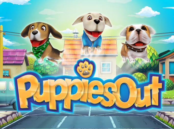 Puppies Out - Labrador 3d printed Puppies Out - Game Poster