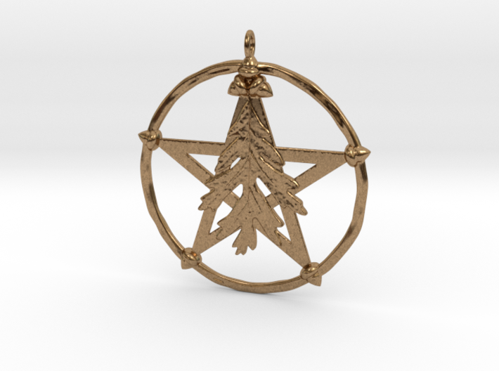 Oak Leaf Pentacle Pendant 3d printed