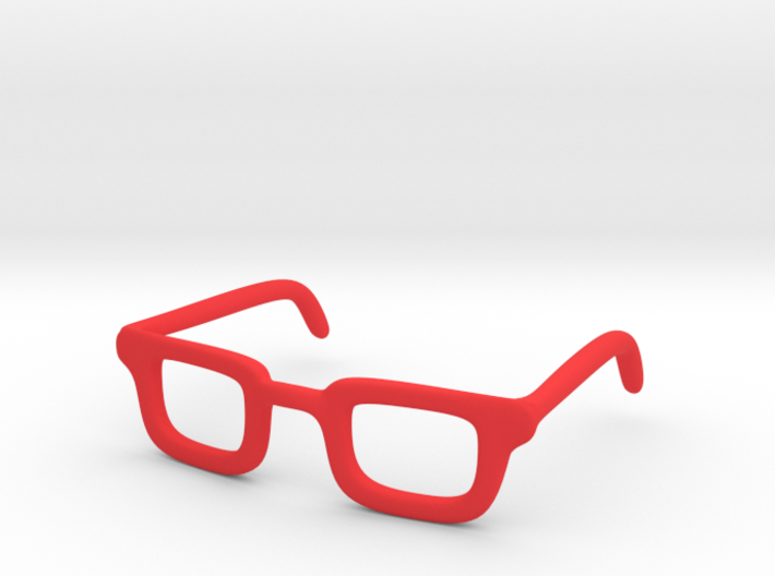 Eye Glasses Frame Rectangle: FOR MSD BJD doll size 3d printed