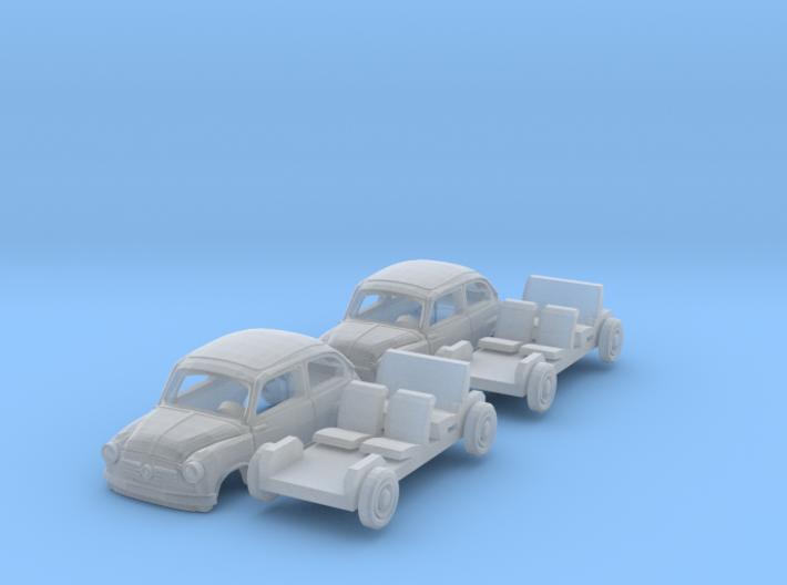 SET 2x Fiat 600 (N 1:160) 3d printed