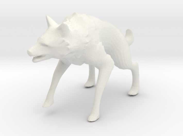 Wolf Pop Art Figurine 3d printed