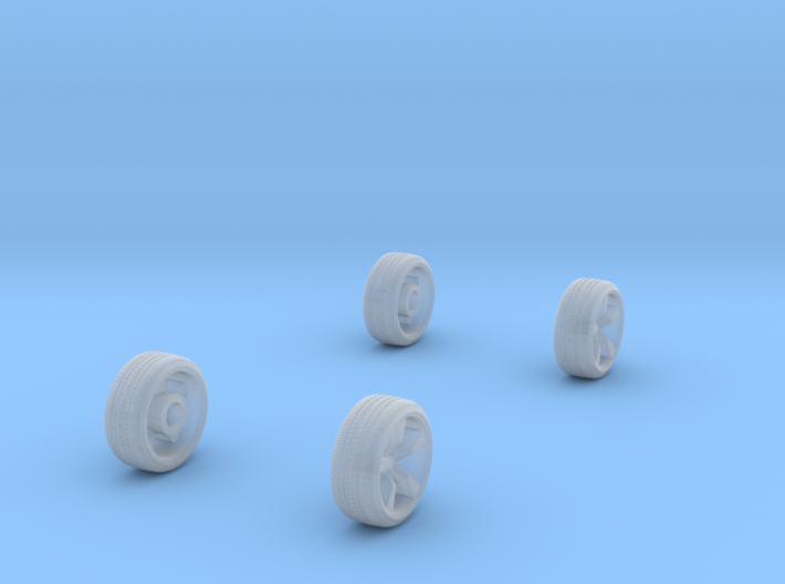 Wheels 1/87 Dodge Charger 3d printed