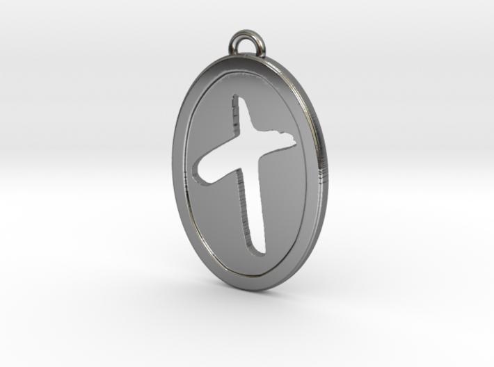 Oval Cutout Cross 3d printed