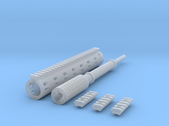 1:6 ROUND FOREGRIP ISR DETAIL V2 3d printed