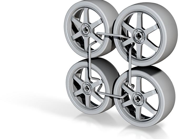 Drift Wheels_49.5mm x4 3d printed