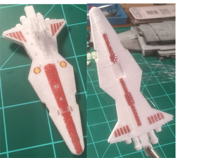 10K Scale Venator 3d printed First print with decals I printed at home.