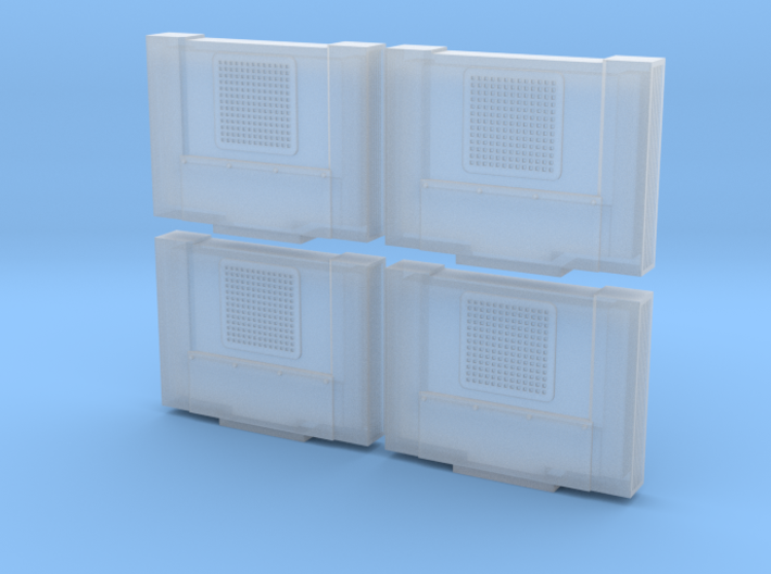 Cab Air Conditioner Prime Style (N - 1:160) 4X 3d printed