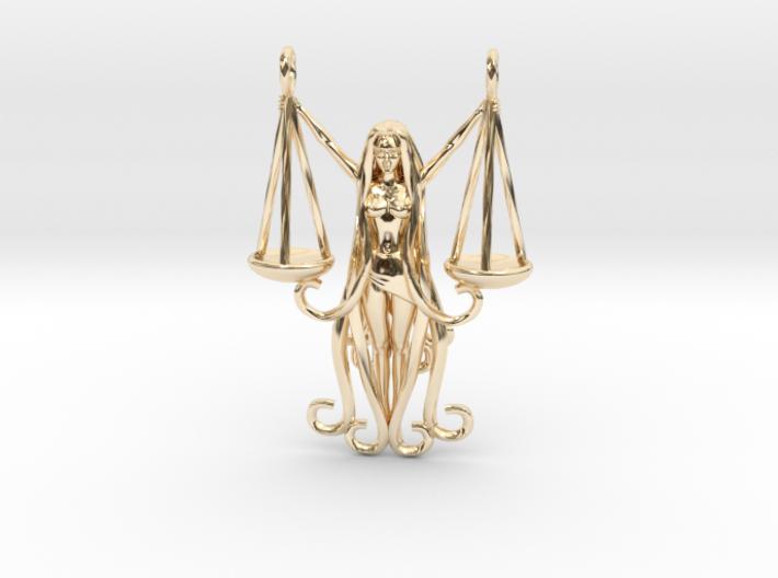 Libra Zodiac Pendant 3d printed