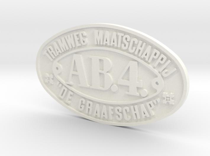800 TMDG nummerplaat AB4 schaal 1:17 3d printed