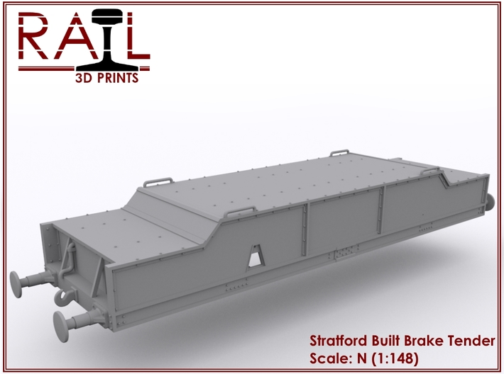Diesel Brake Tender - Stratford Built - N Scale 3d printed