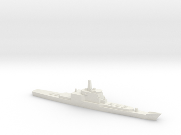 Aegis and VLS refitted Long Beach, 1/1800 3d printed